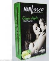 Manforce Green Apple Flavoured 10'S Pack x 10 Condom(Set of 10, 100S)