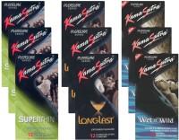 KamaSutra Superthin, Longlast, Wet n Wild - UPFK200342 Condom(Set of 9, 108S)