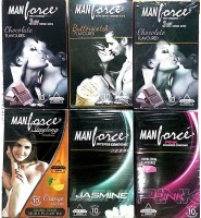Manforce multi flavor set of - 60s Condom(Set of 6, 60S)