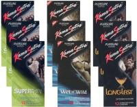 KamaSutra Superthin, Wet n Wild, Longlast - UPFK200327 Condom(Set of 9, 108S)
