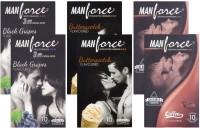 Manforce BlackGrape, Butterscotch, Coffee - CPFK1679 Condom(Set of 6, 60S)