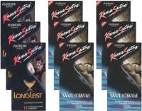 KamaSutra Longlast, Wet n Wild - UPFK200396 Condom(Set of 9, 108S)