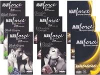 Manforce BlackGrape, Chocolate, Banana - CPFK2188 Condom(Set of 9, 90S)