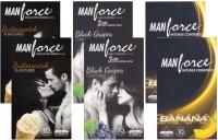 Manforce Butterscotch, BlackGrape, Banana - CPFK1723 Condom(Set of 6, 60S)