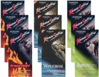 KamaSutra Intensity, Wet n Wild, Superthin - UPFK200361 Condom(Set of 9, 108S)