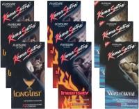 KamaSutra Longlast, Intensity, Wet n Wild - UPFK200408 Condom(Set of 9, 108S)