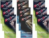 KamaSutra Superthin, Wet n Wild - UPFK200325 Condom(Set of 9, 108S)