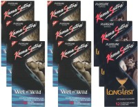 KamaSutra Wet n Wild, Longlast - UPFK200291 Condom(Set of 9, 108S)