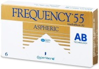 Cooper Vision Frequency 55 Monthly Contact Lens(-4.25, Transperant, Pack of 6)