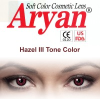 Aryan Tri Tone Hazel By Visions India Yearly Contact Lens(-10.00, Hazel, Pack of 2)