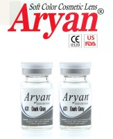 Aryan Tri Tone Dark Grey By Visions India Yearly Contact Lens(-3.50, Dark Grey, Pack of 2)