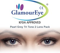 Glamour Eye Pearl Grey By Visions India Monthly Contact Lens(-3.25, Pearl Grey, Pack of 2)
