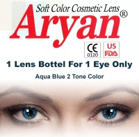 Aryan Colored Disposable Yearly(-3, Colored Contact Lenses, Pack of 1)