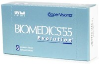 Cooper Vision Biomedics55 Evolution Monthly Contact Lens(-5.5, Clear, Pack of 6)