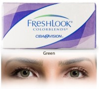 Ciba Vision Freshlook Colorblends Green By Visions India Monthly(-0.75, Colored Contact Lenses, Pack of 2)