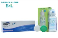 Bausch & Lomb Soflens with Lens Care Kit By Visions India Daily Contact Lens(-8.00, Clear, Pack of 30)