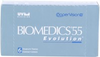 Cooper Vision Biomedics 55 Monthly Contact Lens(-3.5, Plano Clear, Pack of 6)