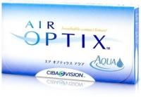 Ciba Vision Air Optix Aqua Monthly Contact Lens(-9, Black, Pack of 6)