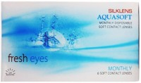 Aquasoft Silklens Monthly(-9, Contact Lenses, Pack of 6)