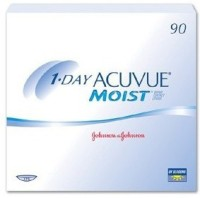 Johnson & Johnson Acuvue Moist 1 Day 90 Pack Daily Contact Lens(-9, Transparent, Pack of 90)