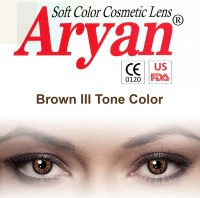 Aryan Tri Tone Brown By Visions India Yearly Contact Lens(-10.50, Brown, Pack of 2)