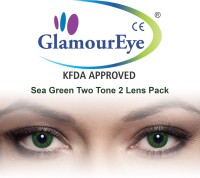 Glamour Eye Sea Green By Visions India Monthly Contact Lens(-4.50, Sea Green, Pack of 2)