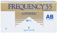 CooperVision Frequency 55 With LensCase By VisionsIndia Monthly Contact Lens(-10.00, Clear, Pack of 6)