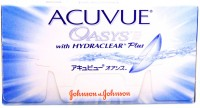 Johnson & Johnson Acuvue Oasys with Hydraclear Plus Bi-weekly Contact Lens(minus3.25, Transparent, Pack of 6)