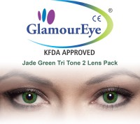 Glamour Eye Jade Green By Visions India Monthly Contact Lens(-12.50, Jade Green, Pack of 2)