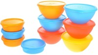 Herware 104-16  - 7470 ml Plastic Grocery Container(Pack of 10, Multicolor)