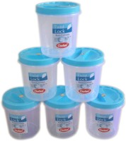Chetan  - 3000 ml Plastic Grocery Container(Pack of 6, Blue)