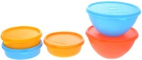 Herware 104 C  - 3090 ml Plastic Grocery Container(Pack of 5, Multicolor)