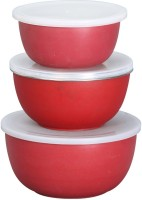 monika enterprises  - 1000 ml, 700 ml, 500 ml Steel Grocery Container(Pack of 3, Red, Blue, Yellow)