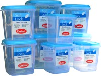 Chetan 9 Pc Plastic Kitchen Storage? Container Set  - 3000 ml, 2000 ml, 1250 ml Plastic Grocery Container(Pack of 9, Clear)