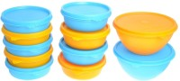 Herware 104-02  - 4560 ml Plastic Grocery Container(Pack of 11, Multicolor)
