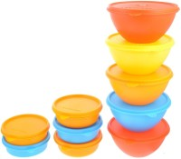 Herware 104-11  - 6870 ml Plastic Grocery Container(Pack of 10, Multicolor)