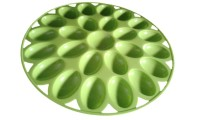 La Belle Egg tray  - 2 dozen Plastic Egg Container(Green)