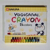 Sakura Round Shaped Wax Crayons(Set of 1, Multicolor)