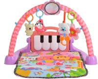 Toy House Kick and Play Piano Baby Activity Gym,MultiColor(Pink)
