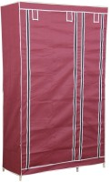View Novatic Metal 2 Door Wardrobe(Finish Color - Maroon) Furniture (Novatic)