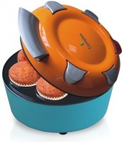 CROMPTON ACGT-CKM71-I Cupcake Maker(Blue, Orange, Non-stick Coating)