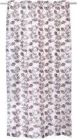 BE 220 cm (7 ft) Polyester Door Curtain Single Curtain(Floral, Brown)