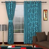 Jai Ganga 213 cm (7 ft) Polyester Door Curtain (Pack Of 2)(Printed, Dark Sky)