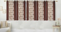 Ville Style 153 cm (5 ft) Polyester Window Curtain (Pack Of 5)(Floral, Brown)
