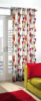 Skipper 275 cm (9 ft) Blends Long Door Curtain Single Curtain(Geometric, Multicolor)