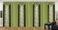 Ville Style 214 cm (7 ft) Polyester Door Curtain (Pack Of 7)(Floral, Green, Pista)