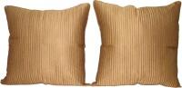 HOME SHINE Plain Cushions Cover(Pack of 2, 60 cm*60 cm, Beige)