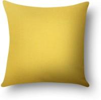 First Row Plain Cushions Cover(40 cm, Yellow)