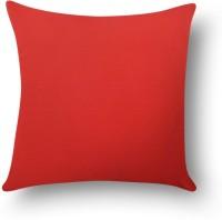 First Row Plain Cushions Cover(40 cm, Red)