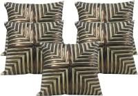 HOME SHINE Geometric Cushions Cover(Pack of 5, 40 cm*40 cm, Beige)